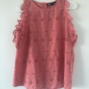 Zara Pink/Salmon Blouse